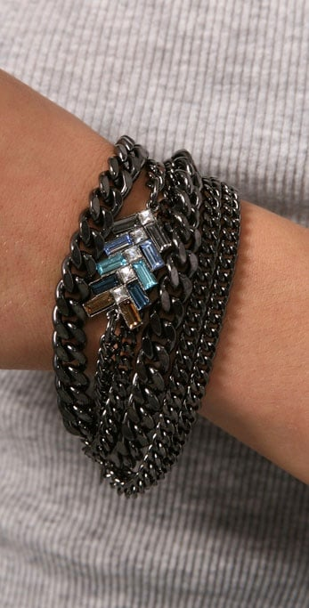 Giles & Brother Multi-Chain Chevron Bracelet