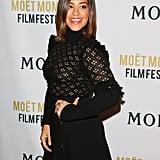 Gina Rodriguez's Black Dress at Golden Globes Moet Party