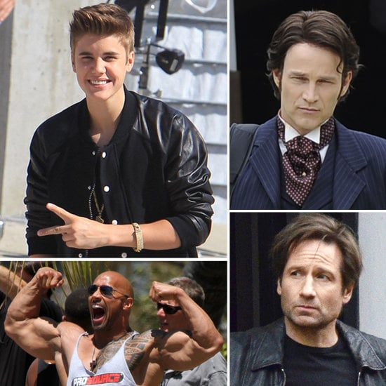 Justin Bieber, David Duchovny, and More Stars on Set!