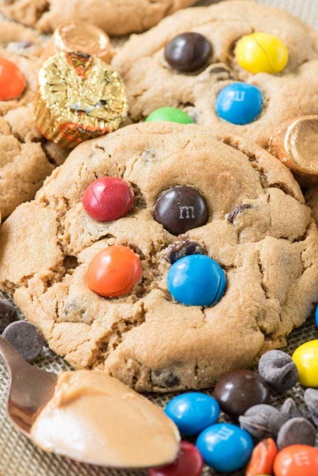 candy overload flourless peanut butter cookies