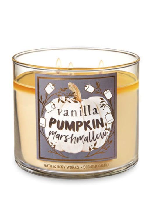 Vanilla Pumpkin Marshmallow Three-Wick Candle
