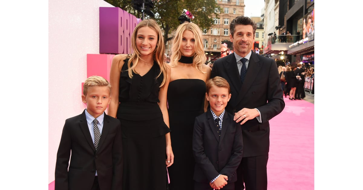 Patrick Dempsey and Family at Bridget Jones's Baby ...