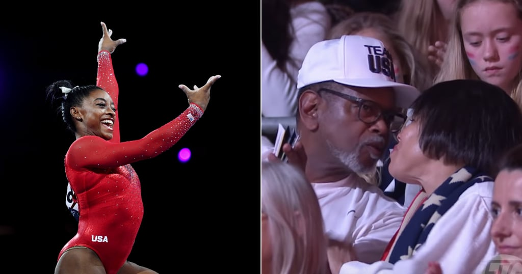 Simone Biles's Parents Kiss Only If She Hits a Routine