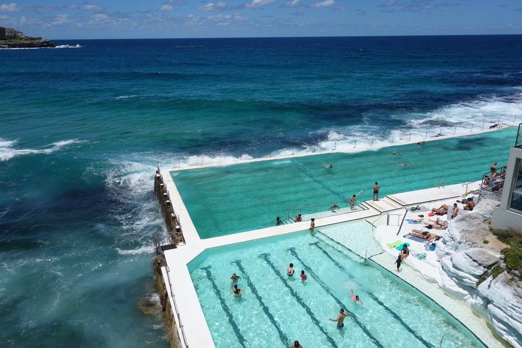Take a dip in massive saltwater Icebergs pool in Sydney, Australia.