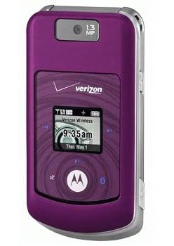 Purple Motorola MOTO W755