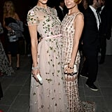 Baby2Baby board members Jessica Alba and Nicole Richie struck a pose in their elaborate gowns at the gala.