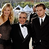 Legendary director Martin Scorsese was flanked by Cameron Diaz and Leonardo DiCaprio at a screening of Gangs of New York in 2002.