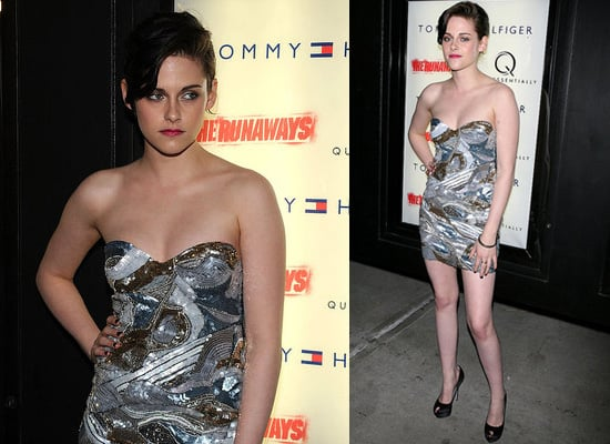 Photos of Kristen Stewart in Pucci Mini Dress at The Runaways NYC Premiere