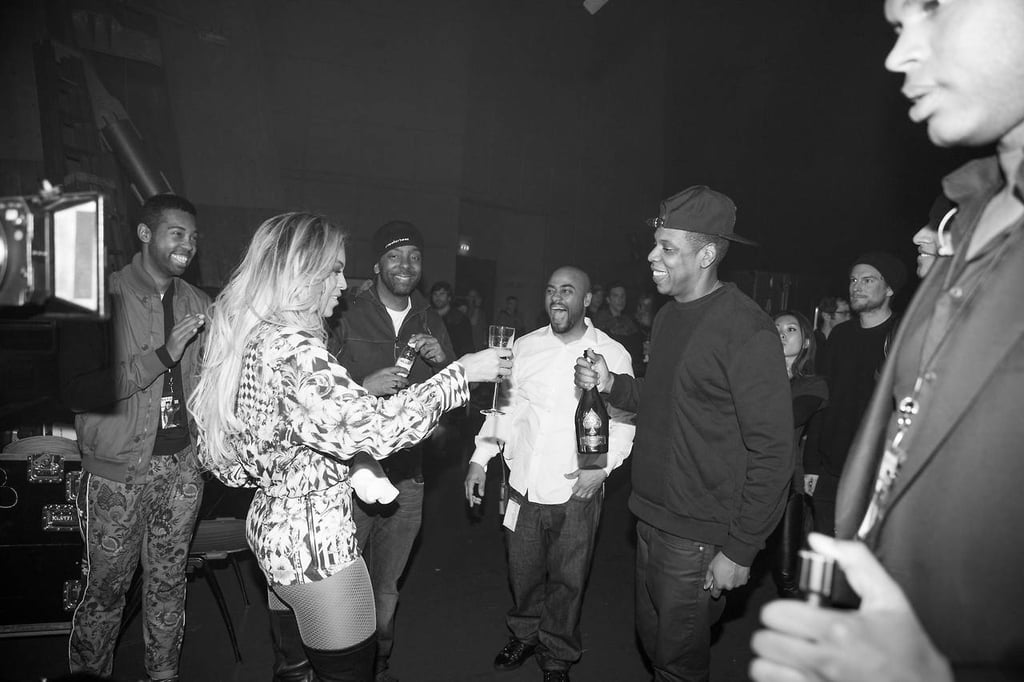 Lastly, She and Jay Z Popped Bottles After Her Final Show