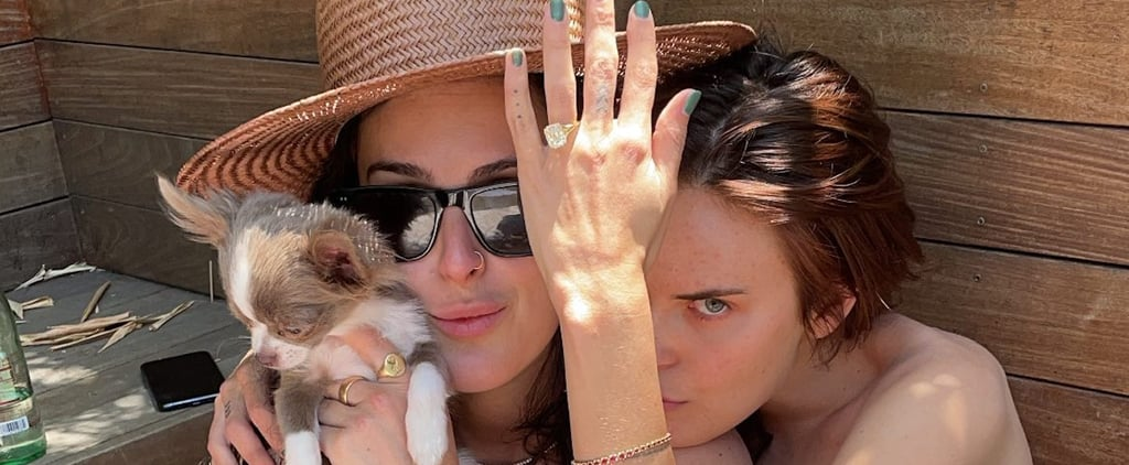 See Tallulah Willis's Custom Asscher Cut Engagement Ring