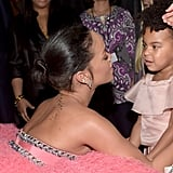 Rihanna and Blue Ivy Carter shared a sweet moment during the 2015 show.