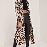 Missguided Leopard Print Silky Duster Coat ($68)
