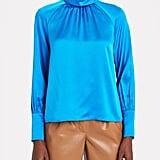 Shop a Similar Blue Silk Blouse