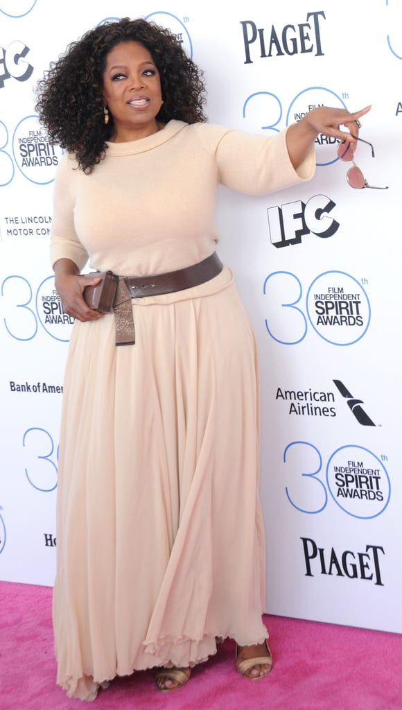 She pointed down the red carpet at the Independent Spirit Awards in February 2015.
