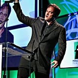 Quentin Tarantino was on stage at the Hollywood Film Awards gala in Los Angeles.