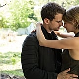 Theo James and Shailene Woodley as Four and Tris.