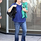 Jennifer Garner carried her purse and baby Samuel Affleck.