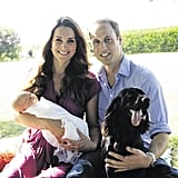 The palace released Prince George's first family portrait, and it wasn't what we expected. Grandfather Michael Middleton took it while the trio were on vacation at the Middleton home.