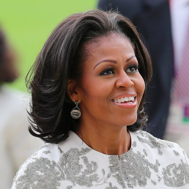 Peachy Michelle Obama39S Hair Pictures Popsugar Beauty Short Hairstyles For Black Women Fulllsitofus