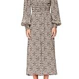 AFRM Miro Leopard Print Long-Sleeve Dress