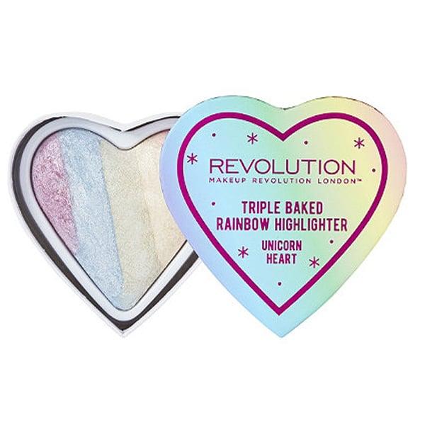 Makeup Revolution Triple Baked Rainbow Highlighter in Unicorn Heart