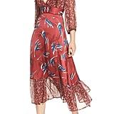 Lenon Mixed Print Midi Dress