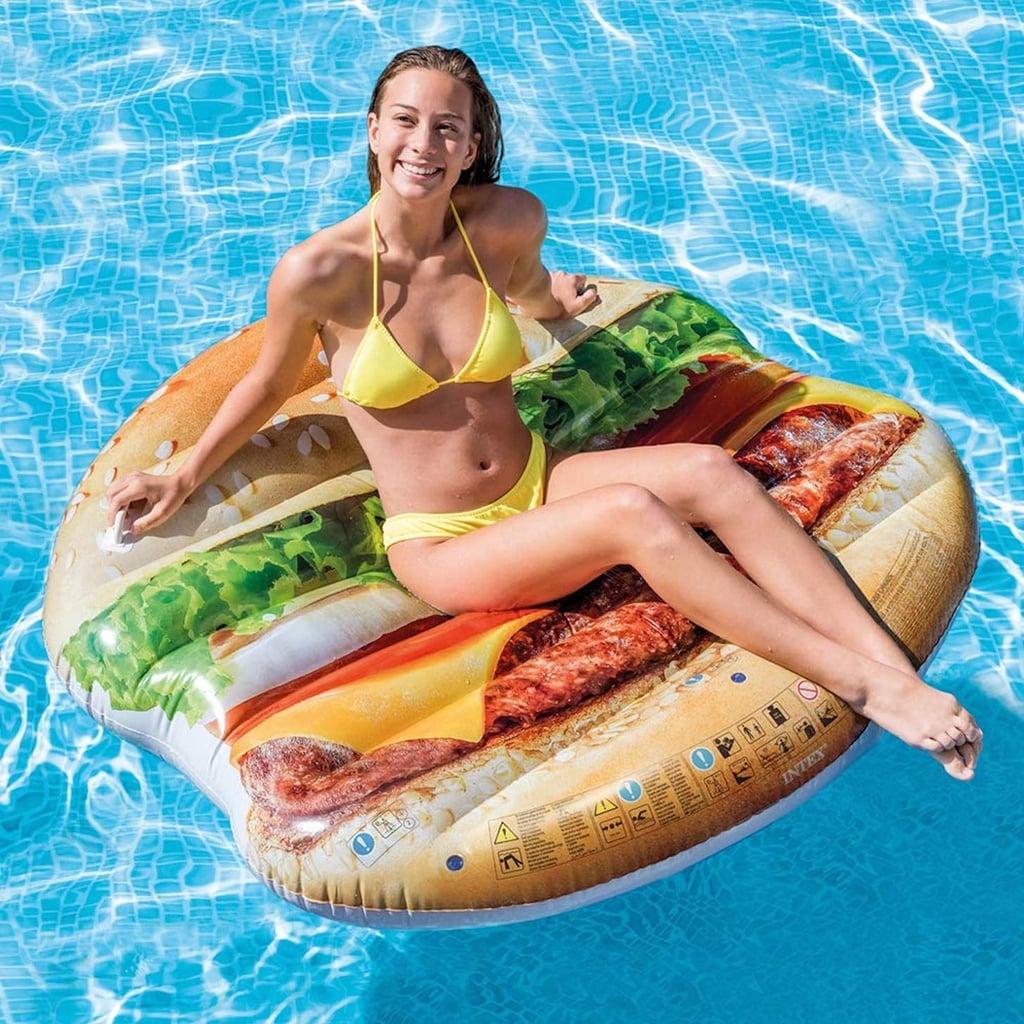 Inflatable Hamburger Island Pool Float