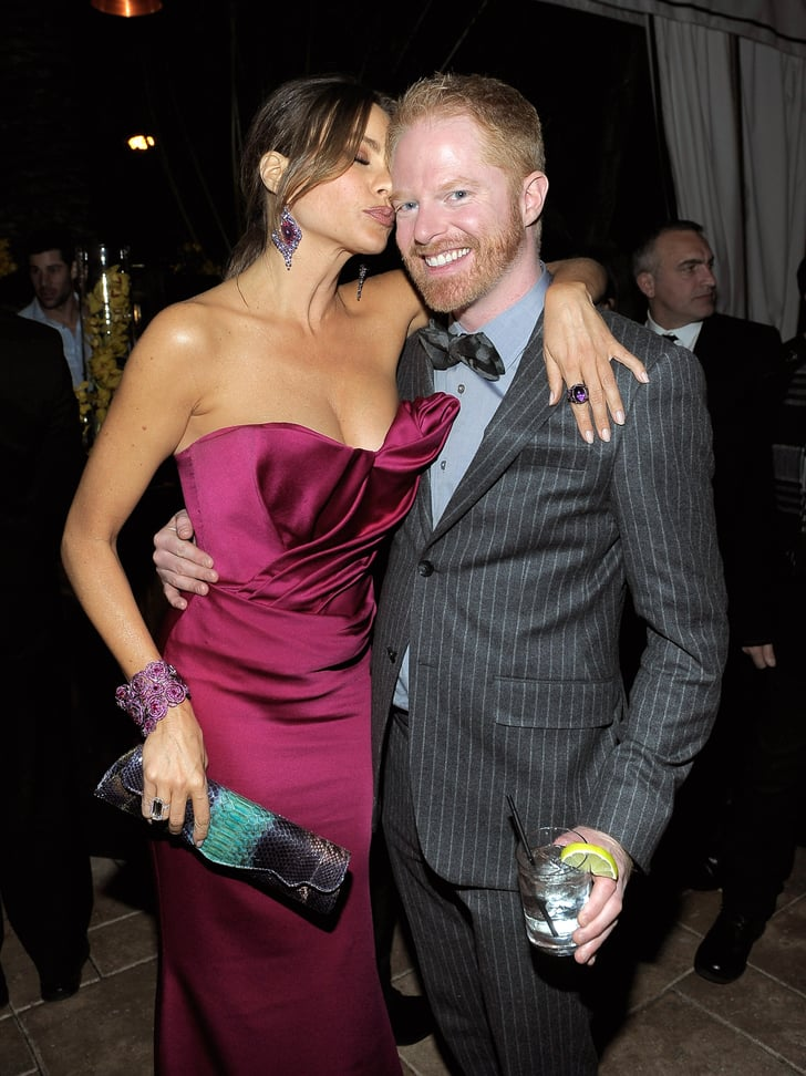 Sofia Vergara Gave Jesse Tyler Ferguson Kiss Cheek on harry ferguson