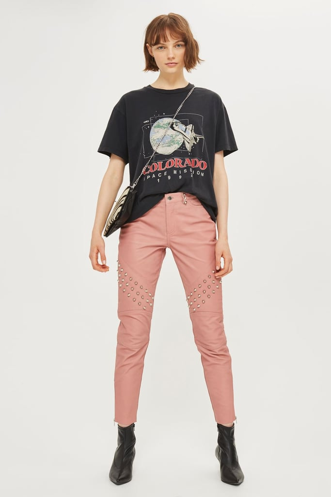 Topshop Leather Studded Pants