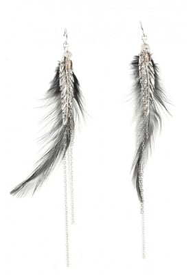 Chan Luu Feather Earrings ($190)