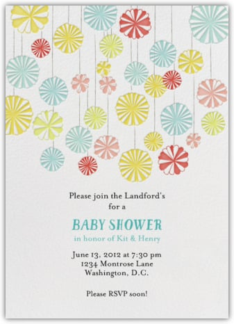digital baby shower invitations | popsugar moms, Baby shower invitations