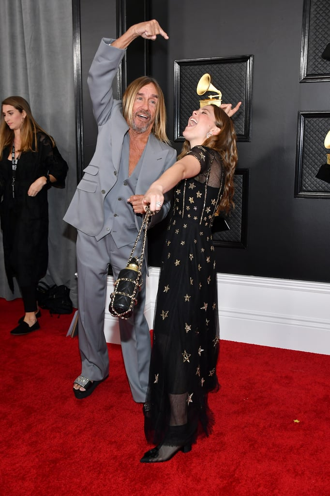 "You won't catch Maggie Rogers carrying a disposable water bottle at the Grammy Awards, because she kept her reusable go-to close for the show. The ""Lights On"" singer — who was nominated for best new artist — wore a vintage Chanel dress covered in stars for the big night, and accessorized with a matching bottle bag on a braided gold chain. That's sustainable chic for ya!  Before taking the red carpet, Maggie wrote a touching note about her outfit and her momentous Grammys evening on Instagram. ""Cried twice already / smiling ear to ear,"" she captioned a photo gallery. ""Wearing the ultimate dream dress today - vintage @chanelofficial from 2013...the summer I was in alaska ✨ It's been an incredible 4 years of work. My team looks dapper AF, my parents are here, my best friend is my date. WE'RE READYYYYYYYYY 🕊 GRAMMYS HERE WE COME."" Check out more photos of her outfit, ahead."