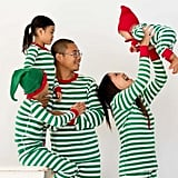 Hanna Andersson Very Merry Stripes in Green Collection ($12-$64)