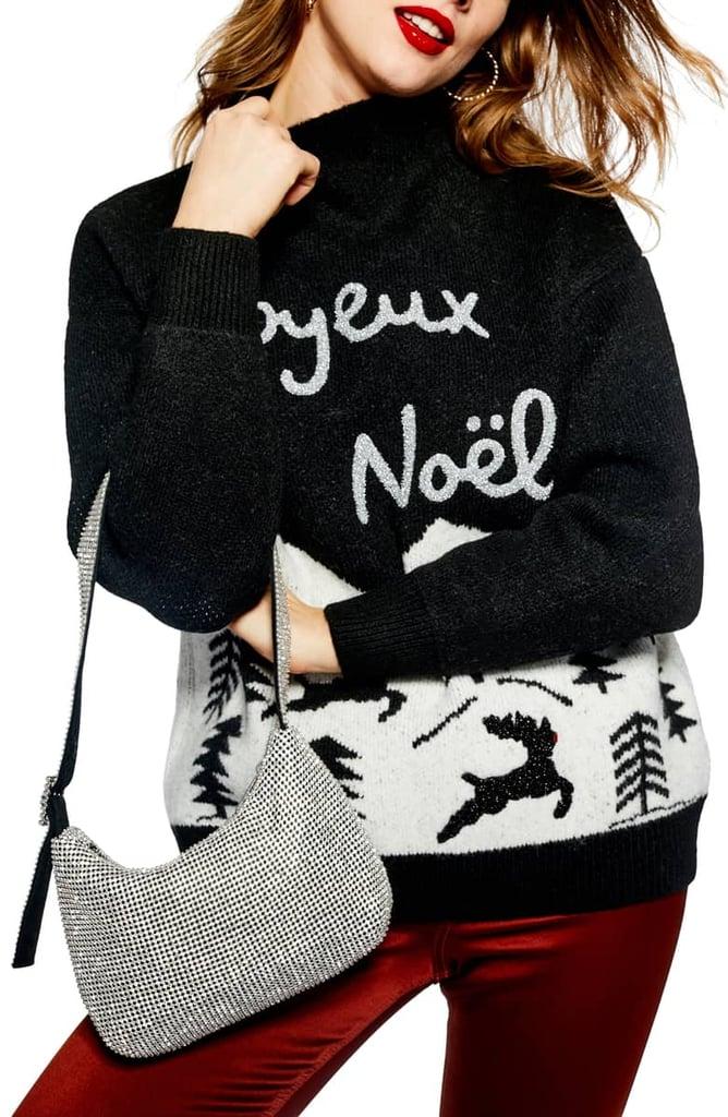 Topshop Joyeux Noël Christmas Sweater