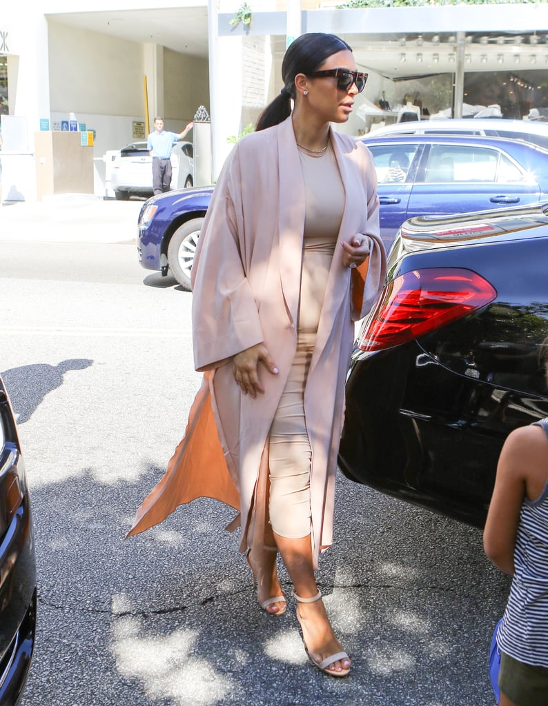 Kim Went For All Neutrals With This Chic Outfit Back in 2015