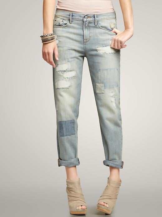 For added interest, this '70s-inspired patchwork pair of boyfriend jeans should do the trick. Gap 1969 Distressed Sexy Boyfriend Jeans ($40, originally $98)