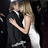 Brad Pitt and Jennifer Aniston at the 2020 SAG Awards