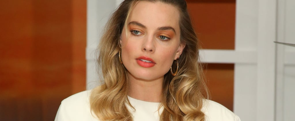 Margot Robbie Neon Orange Makeup and Nails 2019