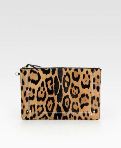 Jermone Dreyfuss Popoche Large Leopard-Print Pony Hair Clutch ($480)