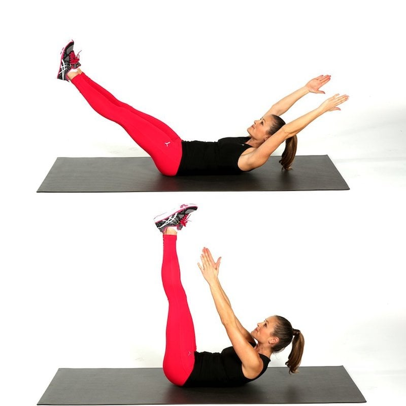 Toe-Touch Crunches | 15 Simple Yet Effective Ab Exercises You Can ...