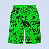 Green Graffiti Shorts