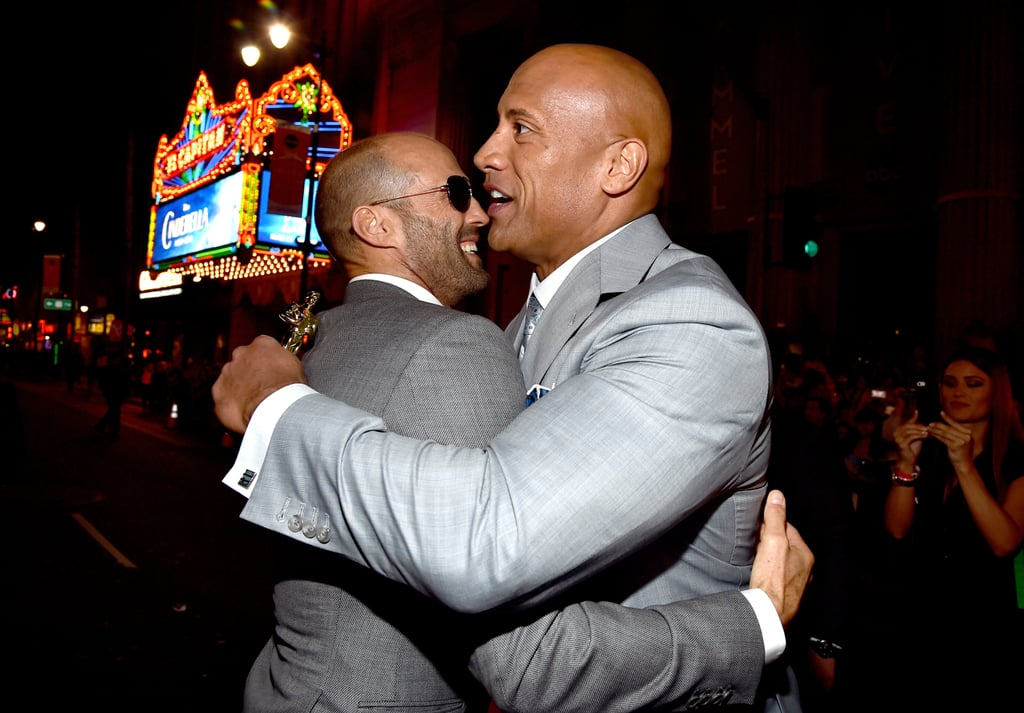 "Dwayne Johnson and Jason Statham will be gracing our screens again in the upcoming Fast and Furious spinoff, Hobbs & Shaw, after starring together in 2017's Furious 7. Even though Dwayne and Jason's characters don't exactly get along in the film, they actually have quite the cute bromance in real life. In addition to sharing hugs and smiles during public outings, Dwayne and Jason recently opened up about their friendship in an interview with Entertainment Weekly. ""I think me and Dwayne share a very similar sense of humor,"" Jason said. ""The only difference in us is the amount of weight he pushes when he's doing a bench press."" As we wait for Hobbs & Shaw to hit theaters on Aug. 2, see some of Dwayne and Jason's best moments ahead!"