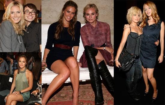 Photos of celebrities Attending New York Fashion Week