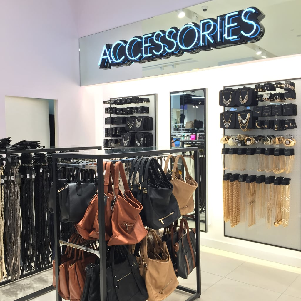The accessories range is huge, covering gold, silver, various pieces of body jewellery, belts, scarves, sunglasses and bags