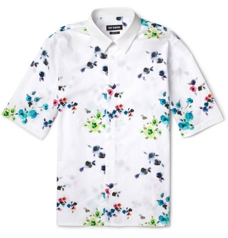 Raf Simons has finally translated his flowery Dior creations for women into something the guys can wear, too. His bloom-print exclusive capsule for Mr Porter echoes his first few flora-filled collections for the French fashion house, and this short-sleeved shirt ($395) is among the coolest pieces in it. And bonus: it would probably look just as cool on women as men. — JF