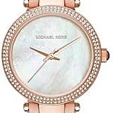 Michael Michael Kors Leather Strap Watch ($225)