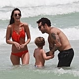 Pete Wentz brought his son, Bronx, to Miami in June alongside his girlfriend, Meagan Camper.