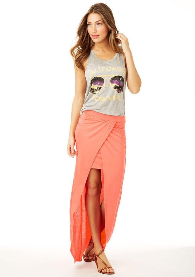 Alloy Slit Maxi Skirt