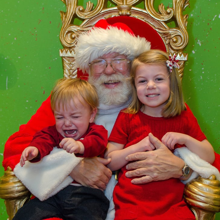 what its like taking kids to visit a mall santa popsugar moms - Santa Claus With Kids
