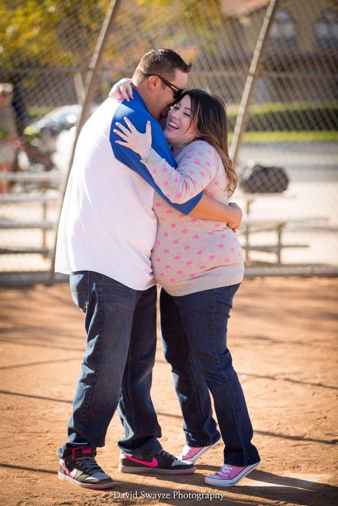 Baseball Gender-Reveal Baby Announcement